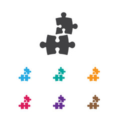 of teach symbol on puzzle icon vector image