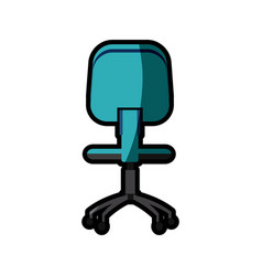 office chair work image shadow vector image