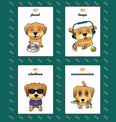 Pet shop labels vector