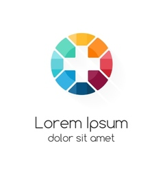 Plus sign logo template medical healthcare symbol vector