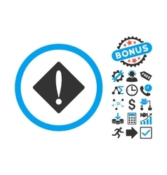 Problem Flat Icon with Bonus vector image vector image