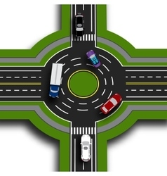 Road infographics top view 3d perspective road vector