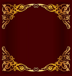 Royal golden frame for design vector