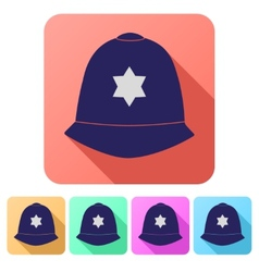 Set Flat icons of helmet metropolitan British vector image vector image