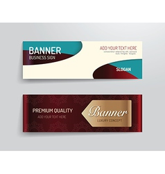 set of banner template luxury design graphic vector image vector image