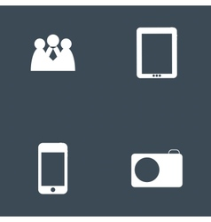 Set of icon for Infographic template design vector image
