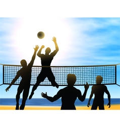 summer volleyball vector image vector image
