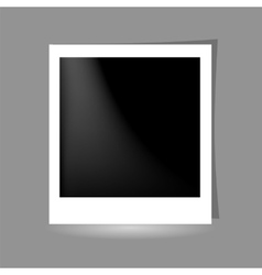 Template photo frame design on grey background vector