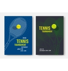 Tennis poster design vector image