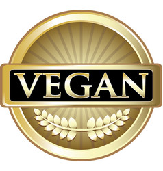 vegan gold icon vector image vector image