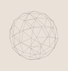 Wireframe 3d sphere vector