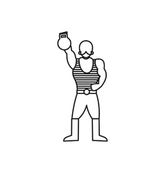 Vintage circus strong man icon outline style vector image
