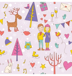 Pattern valentines day vector