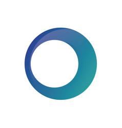 circle business finance logo image vector image