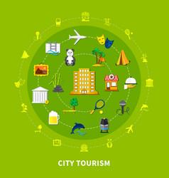 City tourism design concept vector