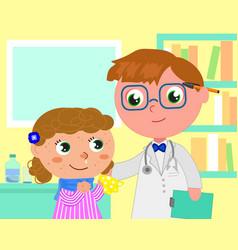 Pediatrist medical office vector