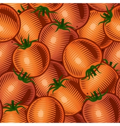 Seamless tomato background vector