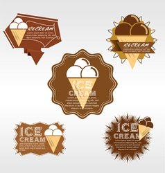Set of ice cream badge eps10 vector