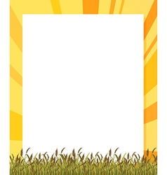 An empty paper template with plants at the bottom vector