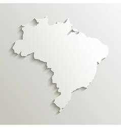 Paper map of brazil vector