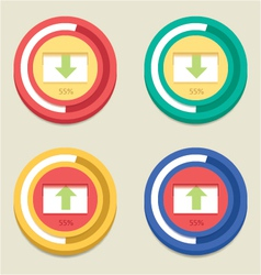 Round Download And Upload Bar vector image