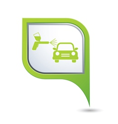 painting of cars GREEN pointer vector image