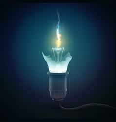 3d light bulb concept vector image vector image