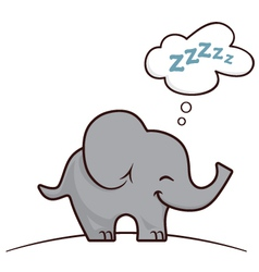 Elephant sleeping vector