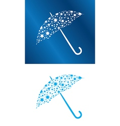 White and blue umbrellas with stars vector