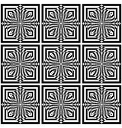 seamless geometric op art pattern vector image