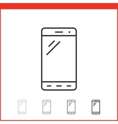 icon of smartphone vector image