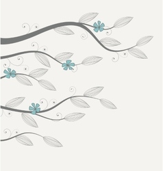 Flowers and branches vector