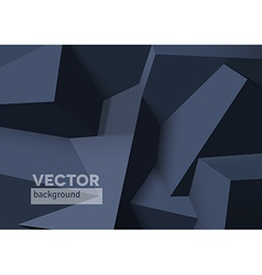 Abstract background with overlapping black cubes vector image
