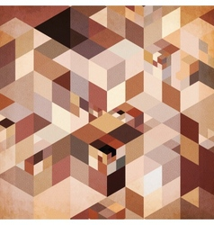 Abstract geometry brown background vector