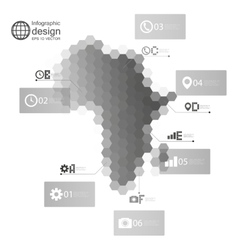 Africa map infographic template for business vector