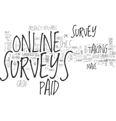 Are online paid surveys a scam text word cloud vector