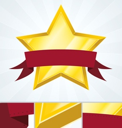 Best ranked star review banner vector