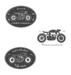 Big set of vintage motorcycle labels vector