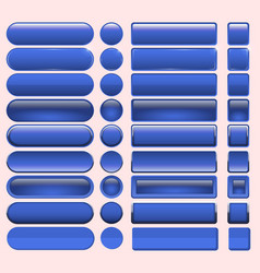 Buttons blue many for website design vector