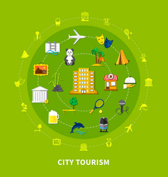 city tourism design concept vector image vector image