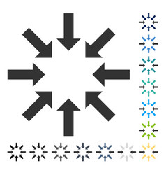 Collapse arrows icon vector