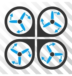 Copter screws rotation eps icon vector