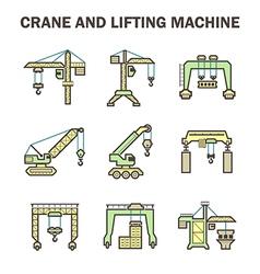 Crane icon vector