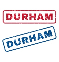 Durham rubber stamps vector