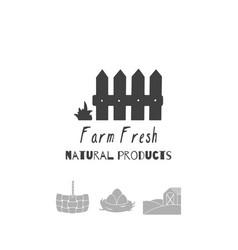 farm market logo template vector image vector image