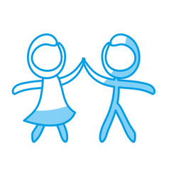 Figure of couple icon vector