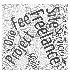 Finding Freelance Projects Word Cloud Concept vector image vector image