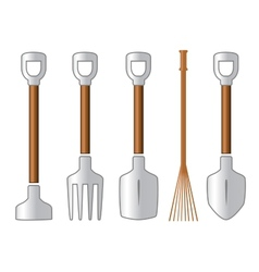 gardening isolated tools set vector image vector image