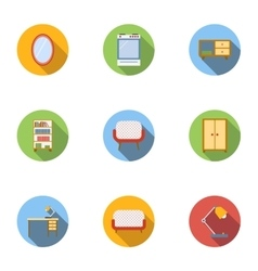Home environment icons set flat style vector image vector image