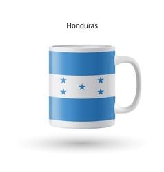 Honduras flag souvenir mug on white background vector